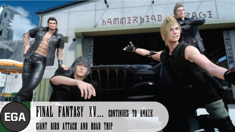 (2) Encountering a Giant Bird on a Road Trip in Final Fantasy XV