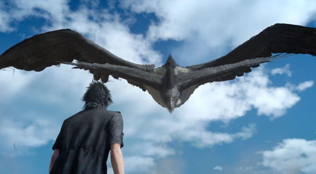 Giant Bird Flying towards Noctis Caelum