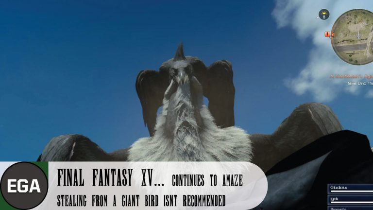 (4) Stealing from a Giant Bird Isn't Recommended in Final Fantasy XV