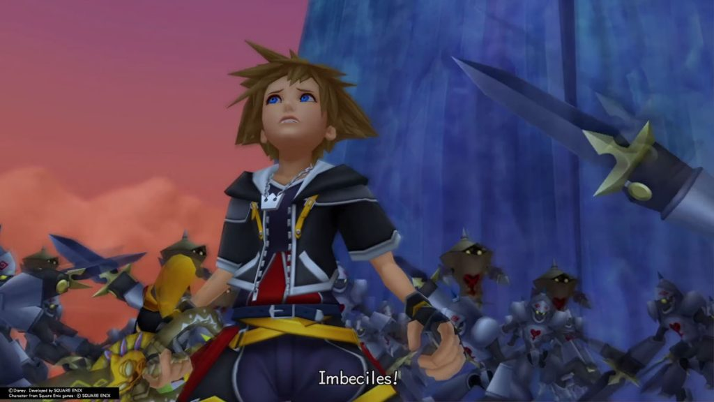 Sora and gang being called imbeciles
