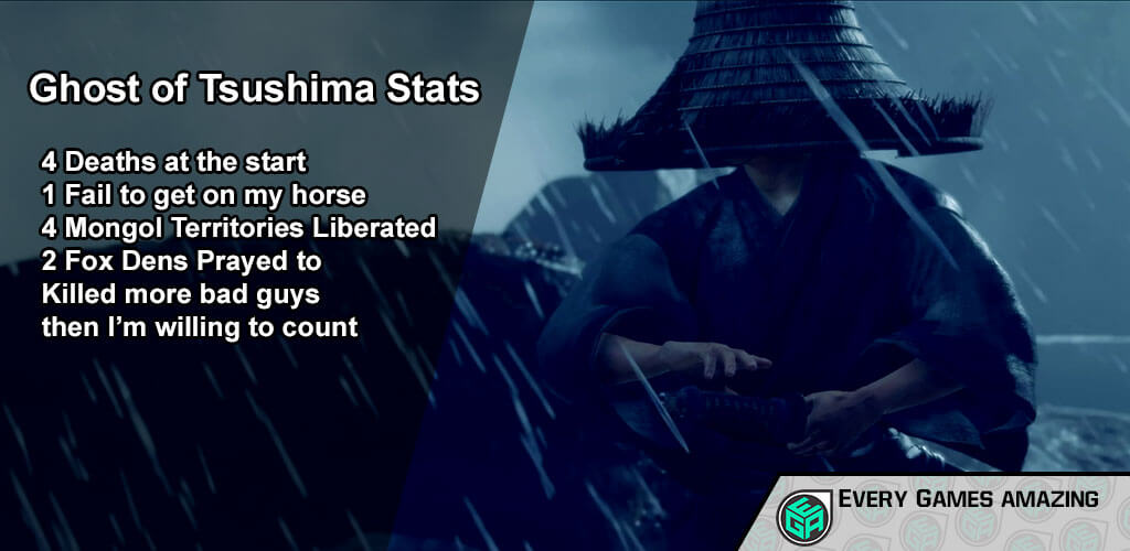 Ghost of Tsushima Gameplay Statistics