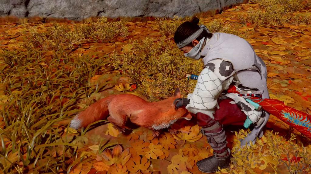 Jin Sakai Petting a Fox
