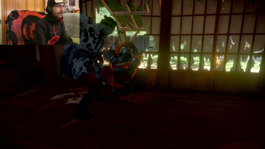 Jin Sakai stealth killing through a door