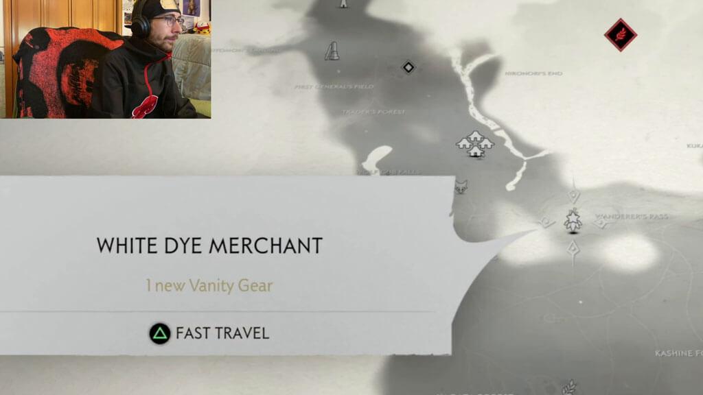 White Dye Merchant Location on the World Map