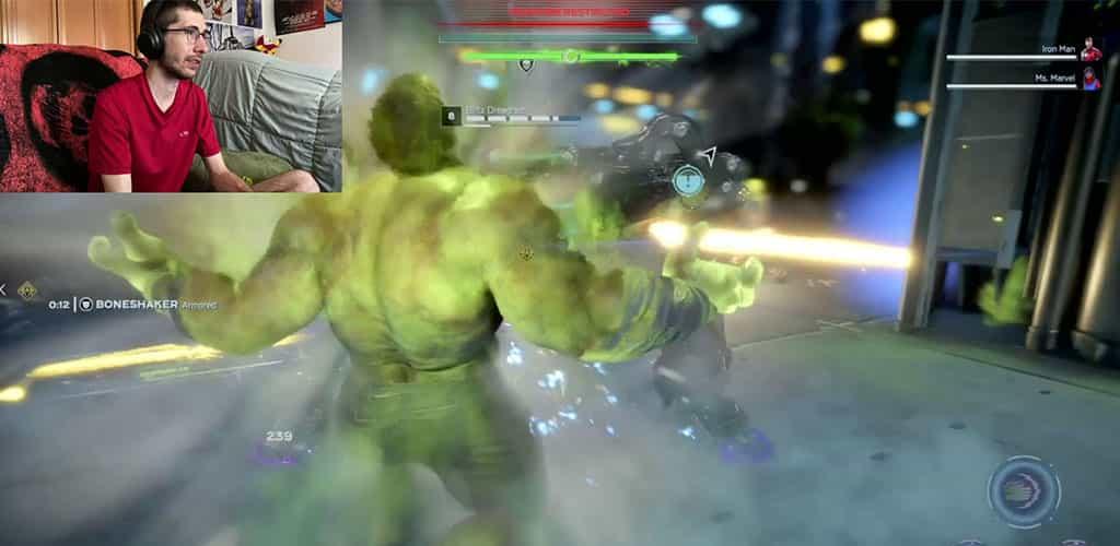 Hulk ThunderClap Attack on Miniboss