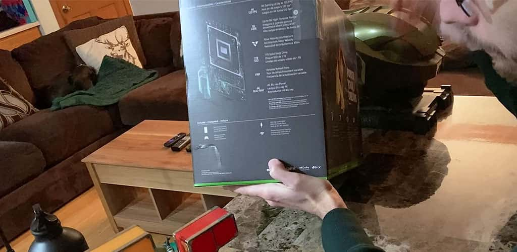Right Side of the Xbox Series X Box