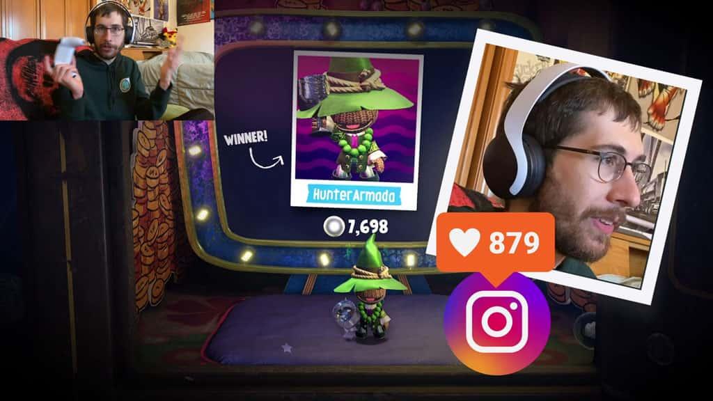 Hunter Armada and Sackboy Instagram Likes