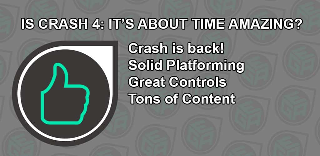 Is Crash 4: It's About Time Amazing