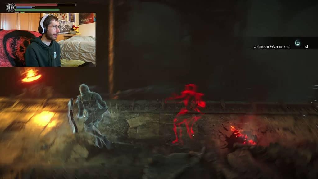 Demon Souls Remake BloodStain Dead Person