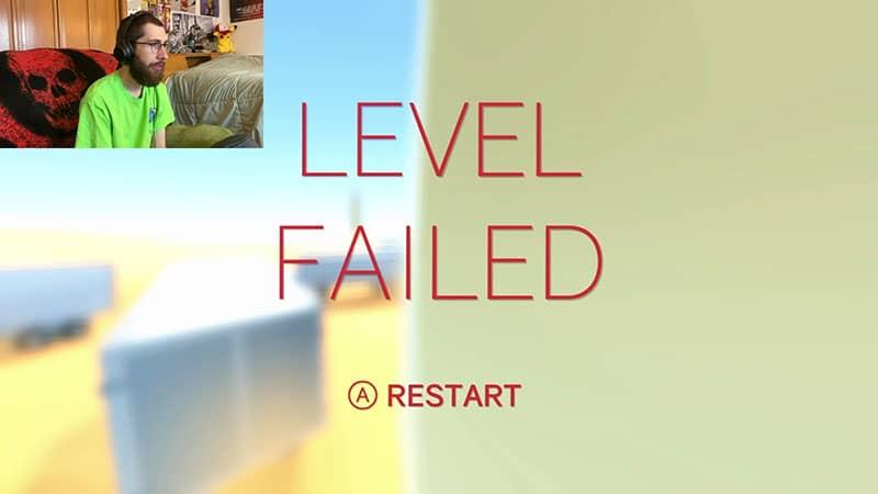 Level Failed Press A to Restart