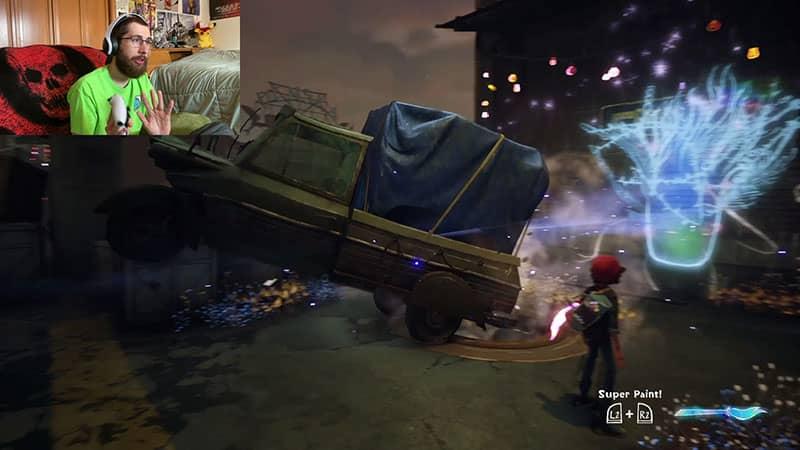 Wind Genie Pushing a Car