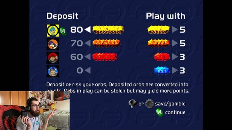 Deposit Orbs Screen