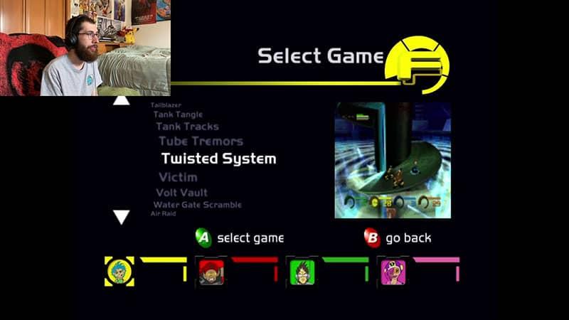 Select Mini-Game Menu